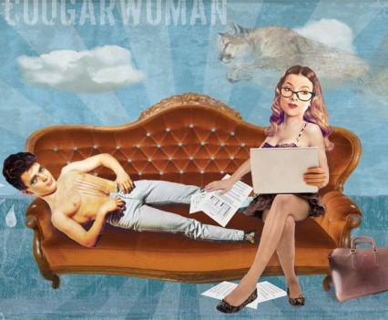 Vrouwen gaan voor groene blaadjes (cougarwoman)