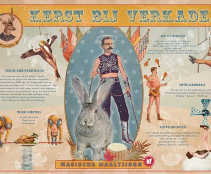 placemat 'Verkade-Kerstcircus'