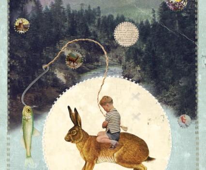 Boy on hare
