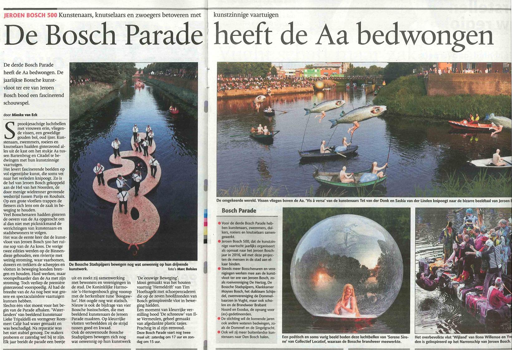 Vis a versa, Brabants Dagblad juni 2012