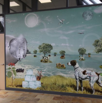 Behang voor dierenkliniek